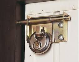 Garage door lock